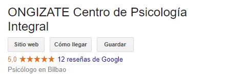 Opiniones Google - Psicólogos Bilbao opiniones
